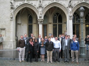 The whole Emory EvMBA crowd touring Brussels, Belgium.