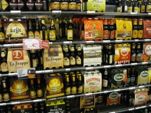 At the local Albert Heijn in Maastricht in awe at the Belgian beer selection.