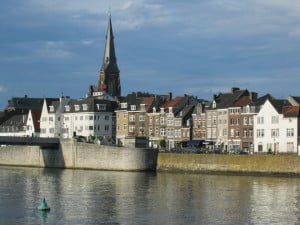 Touring Maastricht, The Netherlands, where we were attending university. Lovely town, lovely people.