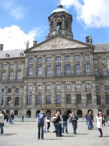 Just arrived from the U.S. to a lovely day in Amsterdam, The Netherlands. Very hungry. Lots of pigeons around. Hmm…