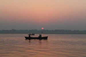Sunrise at the Ganges river
