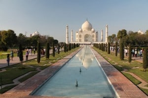 The great Taj Mahal, one of the seven wonders of the world