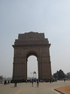 Day 1 - 11:00am: Tour of New Delhi, including the India Gate (below), Swaminarayan Akshardham temple, North & South Black secretariat, Presidential Palace, and Parliament. We're all pretty jet lagged but we are excited to be in India!