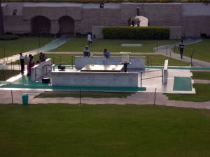 Day 1 - 6:00pm: Visit Rajghat, where Mahatma Gandhi's last rites were performed. It was very peaceful and a relaxing place to end the day.