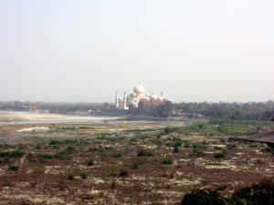 Day 3 - 2:00pm: Another great view of the Taj Mahal from Agra Fort!