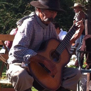 One of the gauchos of the estancia shares his music with us.