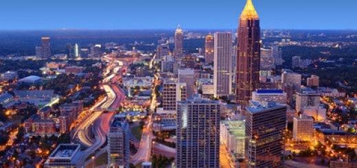 """Skyline of downtown Atlanta, Georgia, USA"""