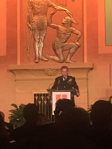 LTG (Ret) Keen speaks at the Hope for Homelessness Dinner at Atlanta's Fox Theater.