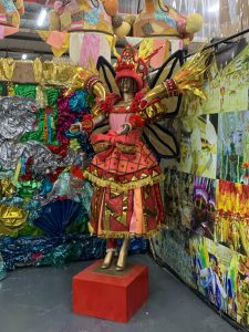 A Carnival costume produced by the students of the samba school