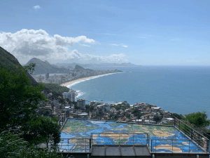 View from a building in Vidigal