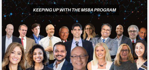 MSBA alumni and faculty